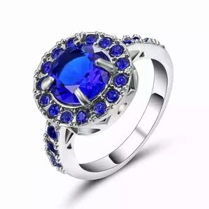 ❤️gorgeous Turkish sapphire gold filled ring 6